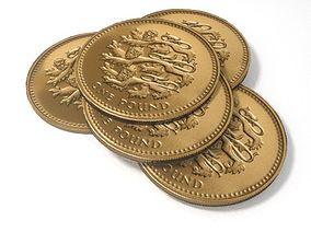 British Pound Coin 3D