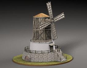 3D model VR / AR ready Old windmill