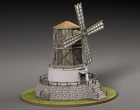 3D model VR / AR ready Old windmill