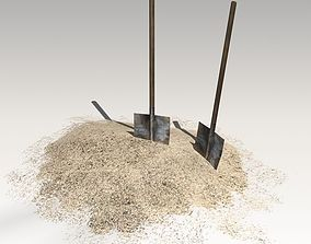 3D asset Spades in sand