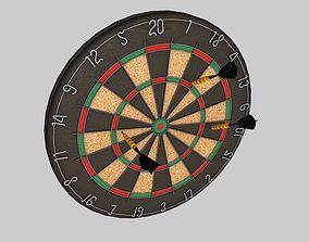 Dart Board and Dart 3D