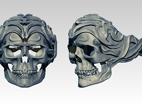 3D printable model armor Skull ring