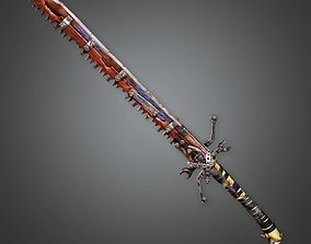 3D asset Post Apocalyptic Modified Sword - PAM - PBR Game