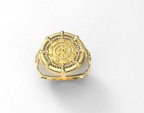 3D print model Ship Wheel Ring