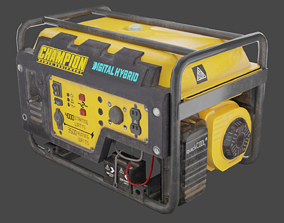 animated LP Generator Realistic 3D Model ready For 2