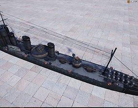 Laforey Class Destroyer HMS Lance G87 3D asset