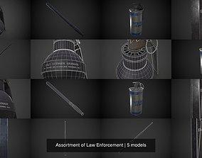 3D model Assortment of Law Enforcement