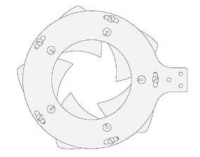 Rotating Mechanical iris-shutter 3D printable model 1