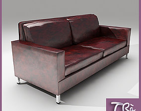OLD LEATHER SOFA 3D