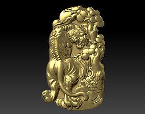 art Tiger Pendant 3D printable model