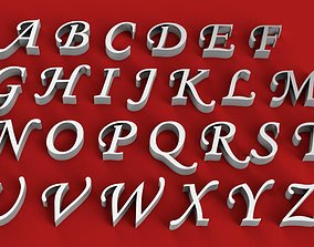 MONOTYPE CORSIVE FONT UPPERCASE AND LOWERCASE 3D LETTERS