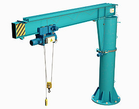 Girder crane 3D model