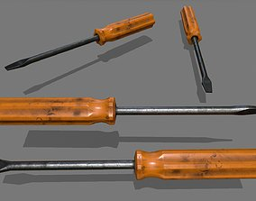 screwdriver industrial 3D asset low-poly