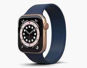 Apple Watch Series 6 44mm Aluminum Gold 3D model