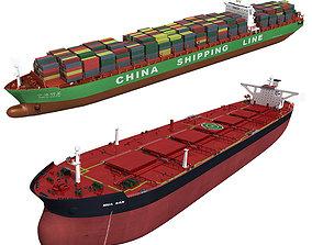 Cargo ships collection 2 3D model