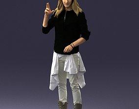 3D model Hippie man 0252