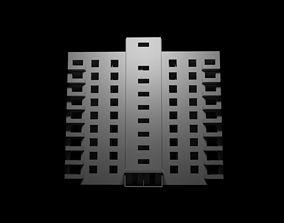 3D asset model of apartment building