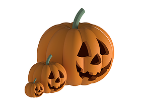 Halloween Pumpkin 3D models