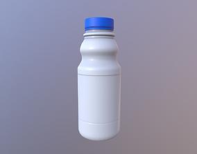 3D model low-poly Bottle Milk