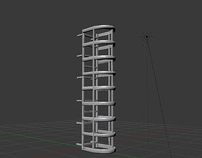3D model VR / AR ready Fire escape