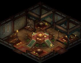 3D Tang People-Tea House-Upstairs