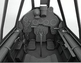 Cockpit Macchi MC205 V Aircraft 3D asset