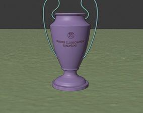champions league trophy 3D asset