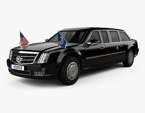 3D Cadillac US Presidential State Car with HQ interior