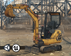 Construction Machinery - Excavator 3D model