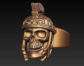 Gladiator skull ring 3D printable model