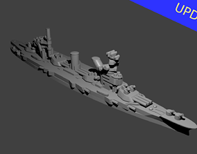 Soviet Gangut Class Battleship 3D print model