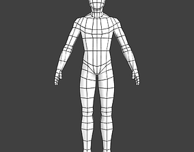Generic Low-poly Basemesh Male 3D model