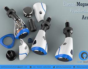 Electro Magnet Prosthethic Arm health 3D