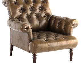3D Vintage leather armchair PBR