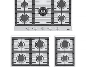 3D Miele gas cooktops