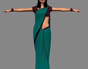 Indian Girl 3D asset