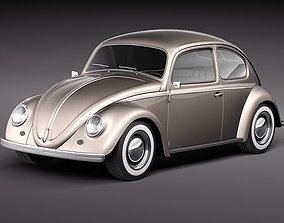 3D model Volkswagen Beetle 1950