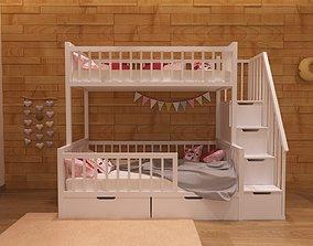 Baby bed 2 3D model