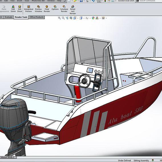 Aluminium boat 5800 mm