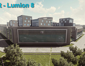 3D model University - Revit and Lumion
