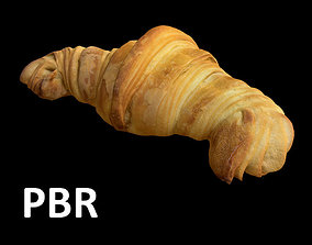 3D asset game-ready French Croissant - PBR