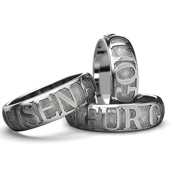 """""""Eisen fur Gold"""" ring"""