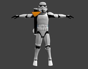 3D asset Sandtrooper - Stormtrooper - Video Game Animation