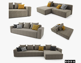 Roda Dandy Sofa Set 3D model