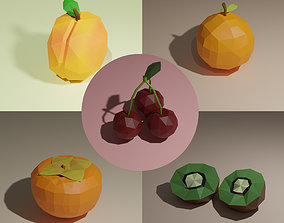 Low poly fruits pack-1 3D model