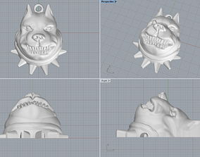 3D printable model Pitbull pendant