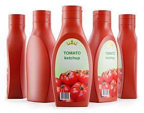 Plastic Tomato Ketchup Bottle 3D model