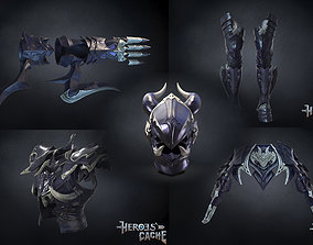3D model Final Fantasy XIV -Drachen Armor Full set