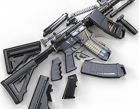 military M4A1 Custom 3D