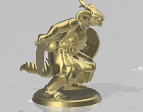 Dragonborn With back pack combat ready 3D printable model
